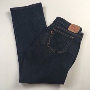 Levi's 545 Low Boot Cut Distressed Jeans Size 14